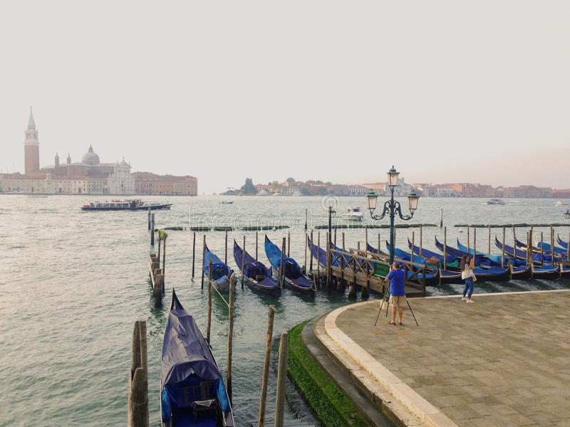 Taking a photo of San Giorgio Maggiore from the San Macro stock images