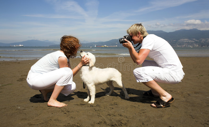 Taking pictures stock image