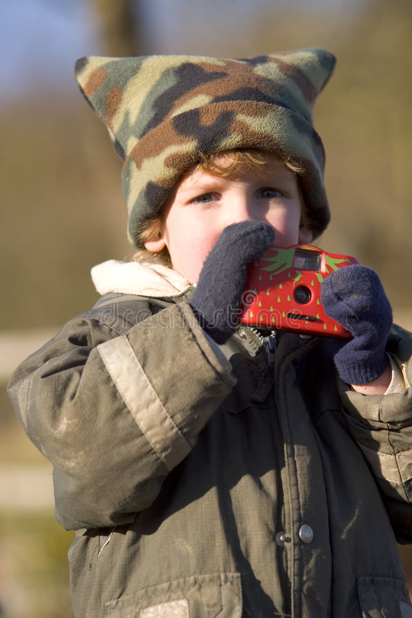 Download Taking Pictures In The Cold Stock Photo - Image: 627106