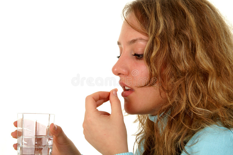 Download Taking pills stock photo. Image of migraine, pretty, illness - 532928