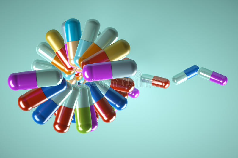 Download Taking Pills To Choose From Stock Illustration - Image: 25855894