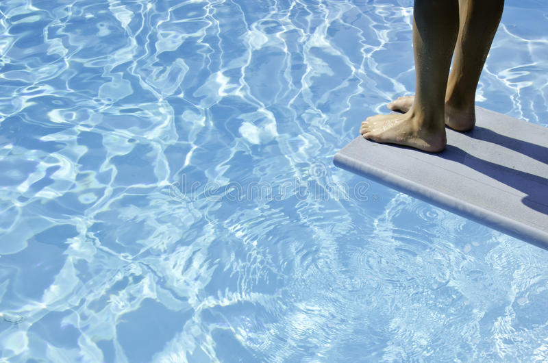 Taking the plunge stock photography