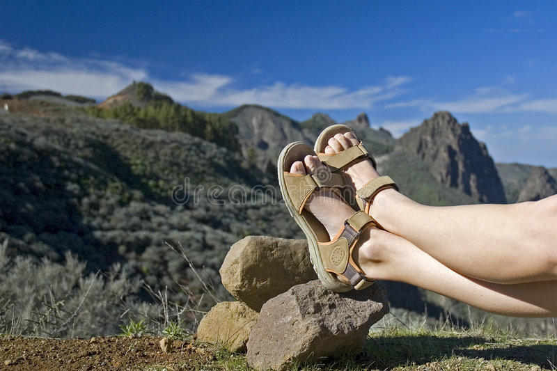 Taking a rest stock photography