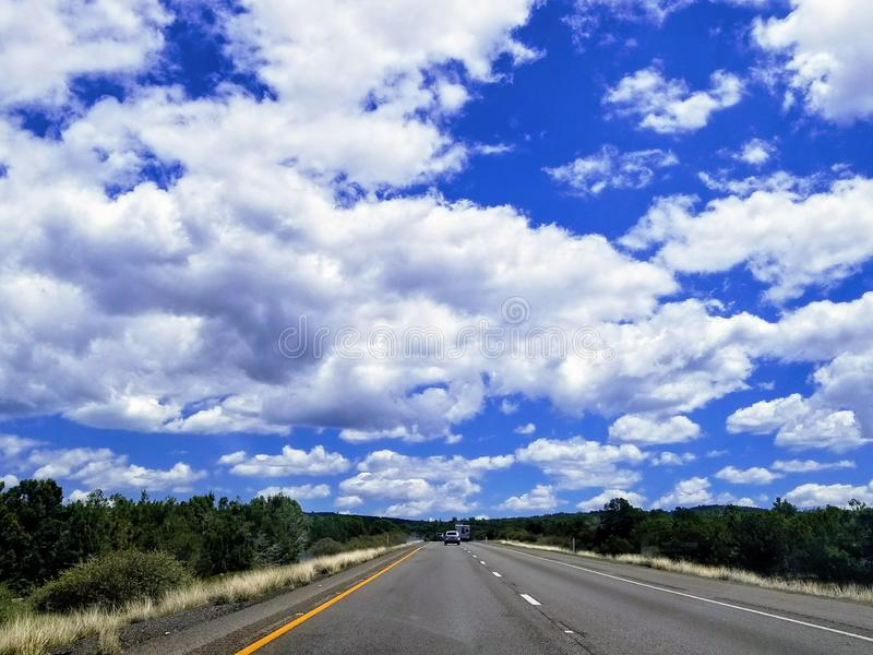 Landscape with road in Arizona USA. Taking a road trip while traveling in Arizona USA. One of the most beautiful roads stock photography
