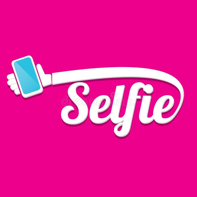 Taking Selfie Photo on Smart Phone concept icon stock illustration