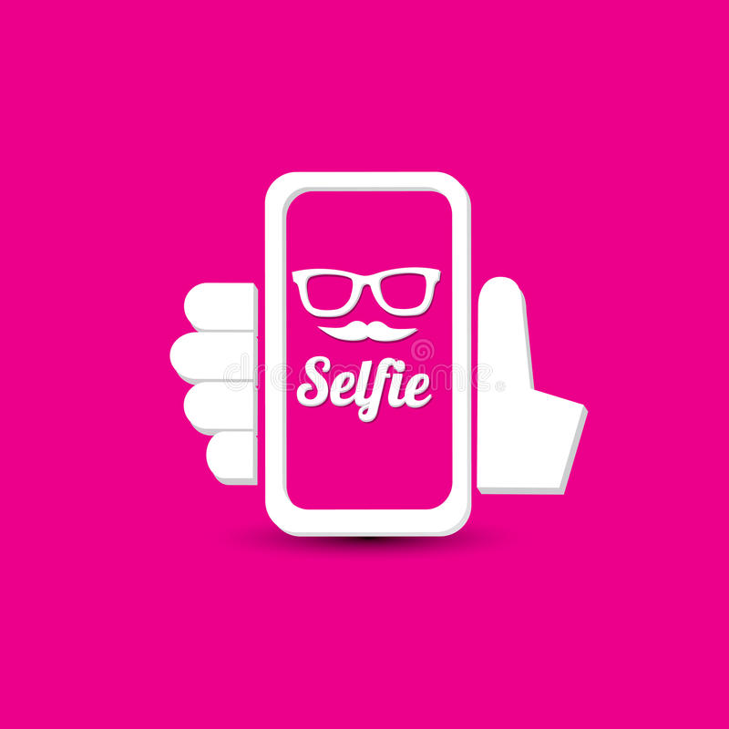 Taking Selfie Photo on Smart Phone concept icon vector illustration