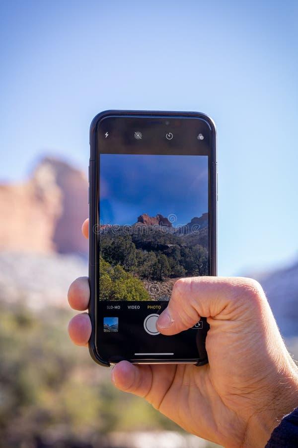 Taking a Smartphone Photo stock photos
