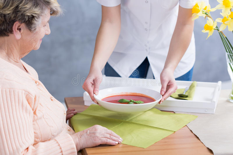 Taking the strict diet stock photos