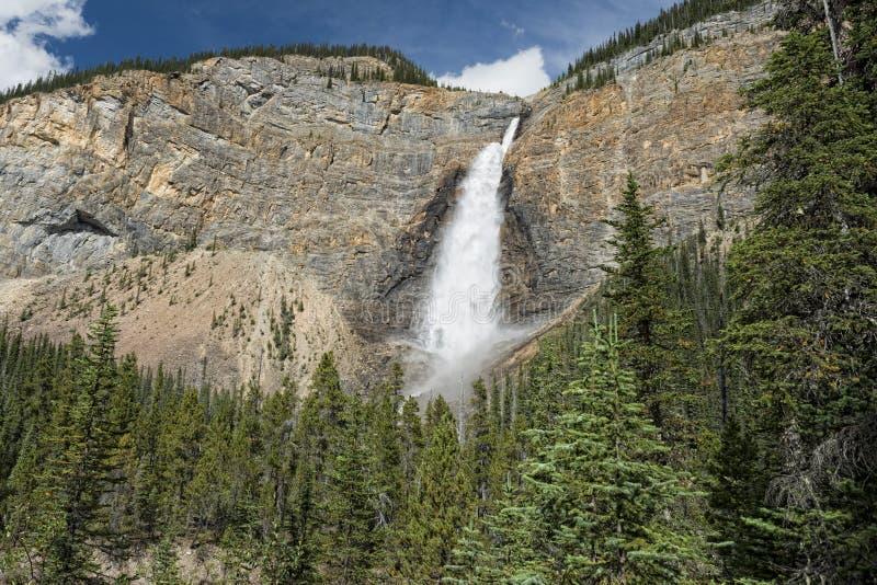Takkakaw понижается в парк Banff Yoho стоковые фото