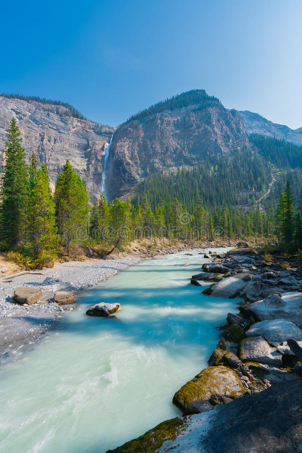 Takkakaw Falls, CANADA, Yoho National Park, British Columbia, Canada stock photos