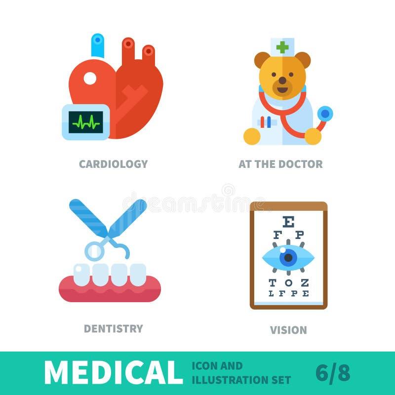 Takken van geneeskunde vector illustratie