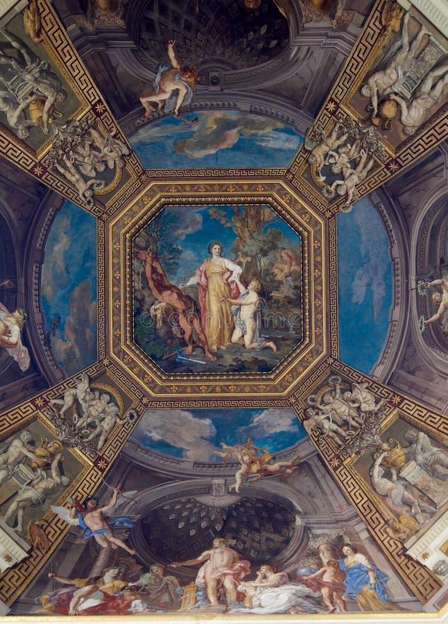 takkorridormuseer vatican royaltyfria foton