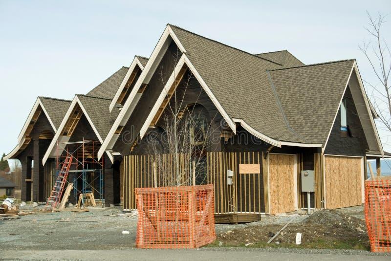 taklägga för konstruktionshus royaltyfri foto