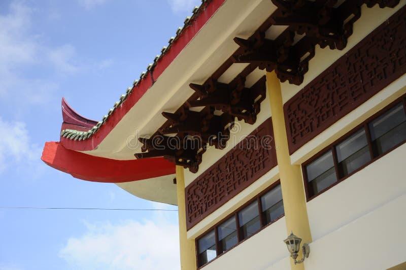 Taklägga kanten av Masjid Jubli Perak Sultan Ismail Petra a K A Masjid Peking royaltyfria foton