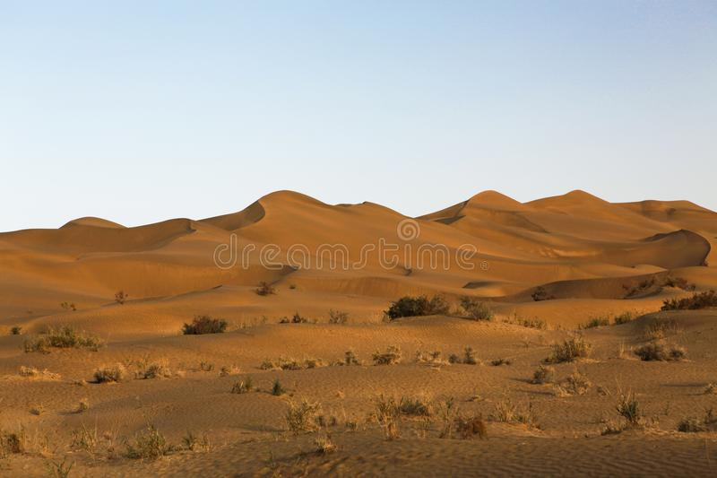 The Taklimakan desert is one of the largest deserts in the world royalty free stock images