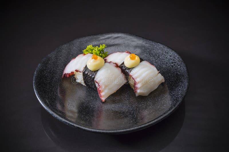 Tako Nigiri, tako do sushi fotografia de stock