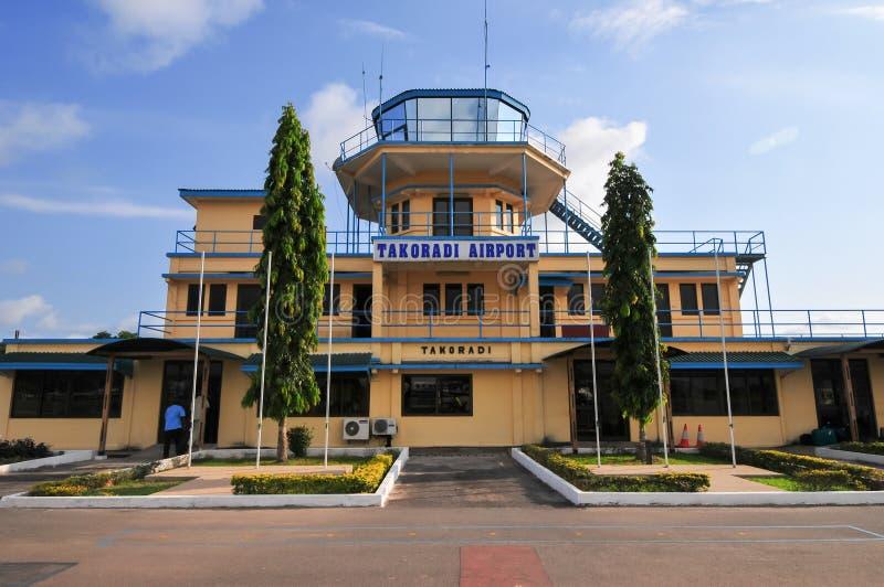 Takoradi机场, Takoradi,加纳 免版税库存图片