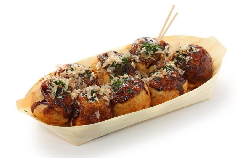 Takoyaki, bolas del pulpo, alimento japonés fotos de archivo