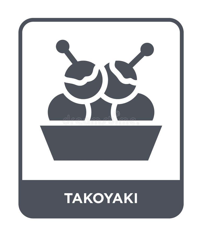 Takoyaki icon in trendy design style. takoyaki icon isolated on white background. takoyaki vector icon simple and modern flat. Symbol for web site, mobile, logo stock illustration