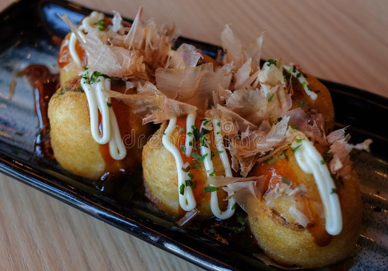 Takoyaki, nourriture japonaise photo libre de droits