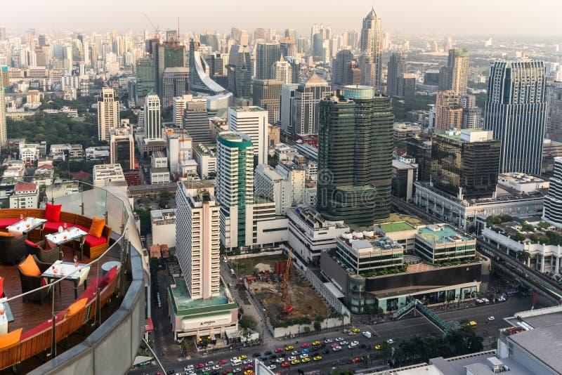Takrestaurang i Bangkok arkivfoton