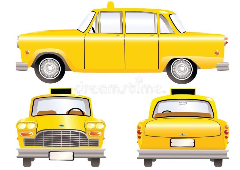 taksówek taxi kolor żółty royalty ilustracja