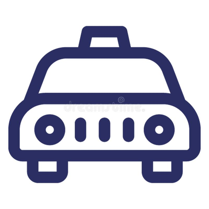 Taksówka, miejscowy przewieziona Wektorowa ikona która może łatwo redagować lub modyfikować royalty ilustracja