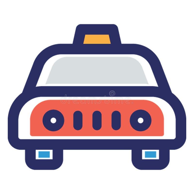Taksówka, miejscowy przewieziona Wektorowa ikona która może łatwo redagować lub modyfikować ilustracji
