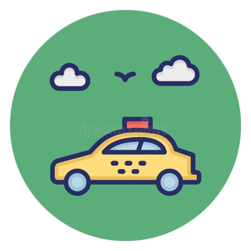 Taksówka, samochodowy dzierżawienie, Wektorowa ikona która może łatwo redagować ilustracji