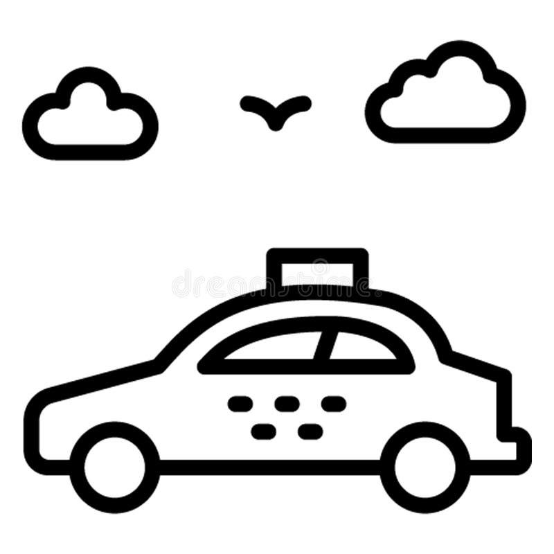 Taksówka, samochodowy dzierżawienie, Wektorowa ikona która może łatwo redagować ilustracja wektor