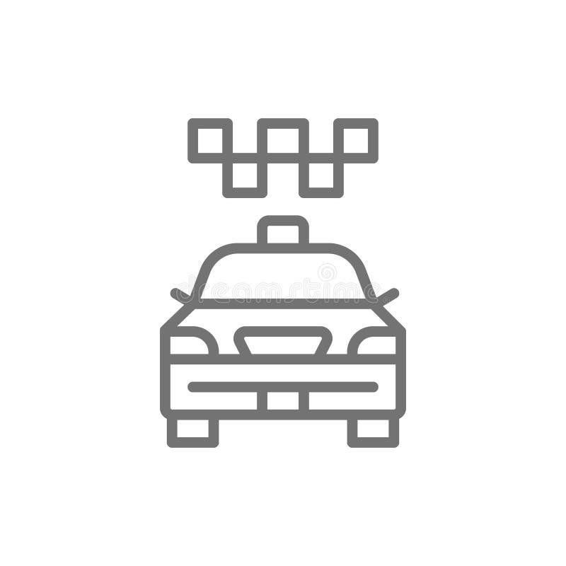 Taksówka, taxi, miasto samochód, transport publiczny linii ikona royalty ilustracja