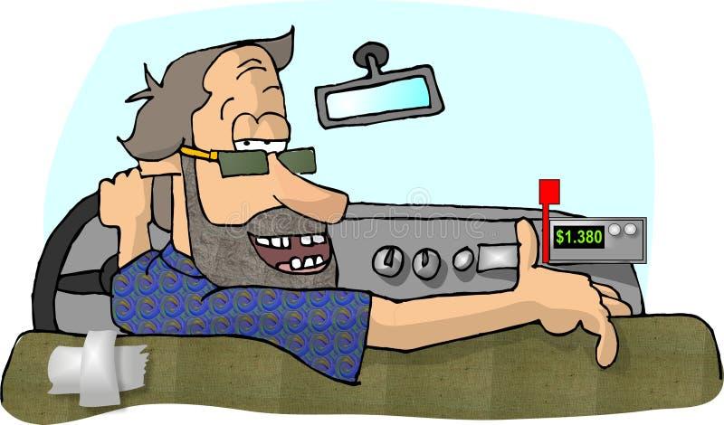 taksówkarz ilustracji