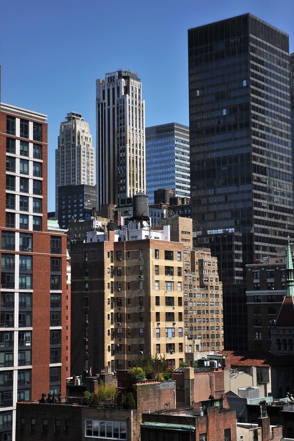 Taksikt till den övreöstliga sidan Manhattan arkivbild