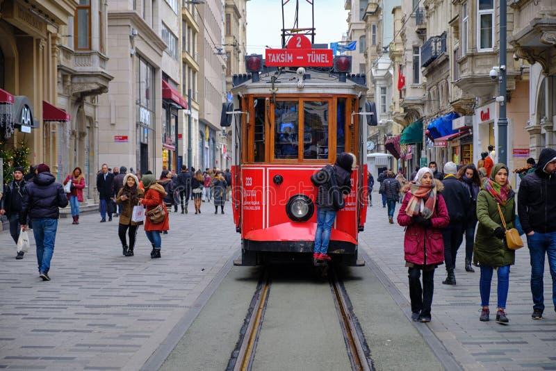 Taksim fyrkant till Galata arkivfoto