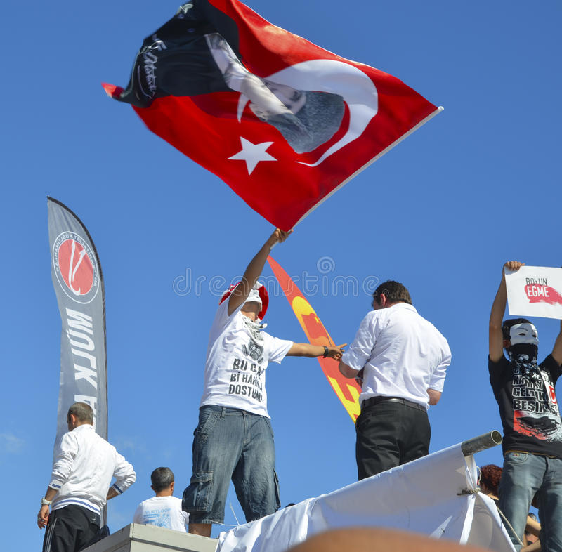 Taksim Gezi Park protests and Events. A view from the protests i royalty free stock image
