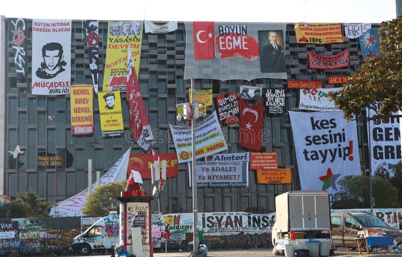 TAKSIM GEZI PARKERAR MOTSTÅND, ISTANBUL. fotografering för bildbyråer