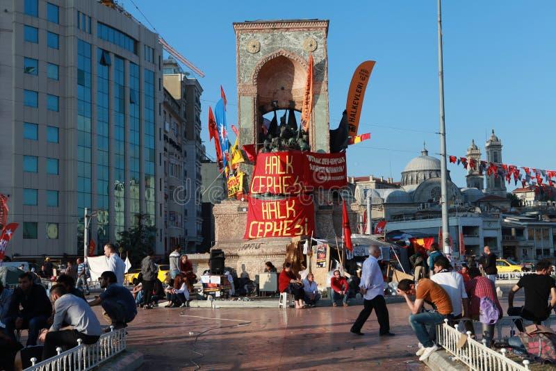 TAKSIM GEZI PARKERAR MOTSTÅND, ISTANBUL. arkivfoton