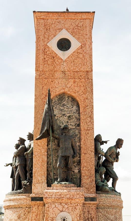 Taksim-Monument der Republik, Istanbul, die Türkei lizenzfreie stockbilder