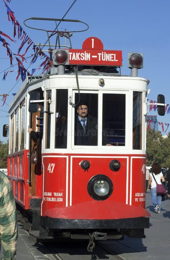 Taksim old tram royalty free stock photography