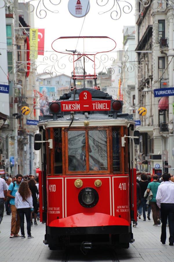 Taksim-Quadrat-Straßenbahn stockfotos