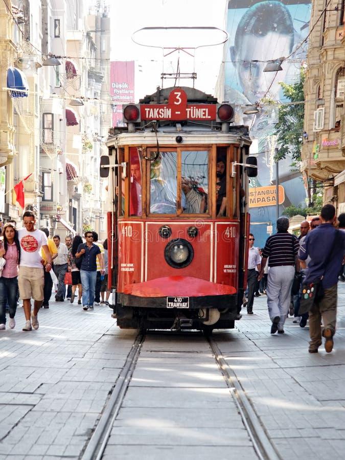 Taksim-Tunel Förderwagen lizenzfreies stockfoto