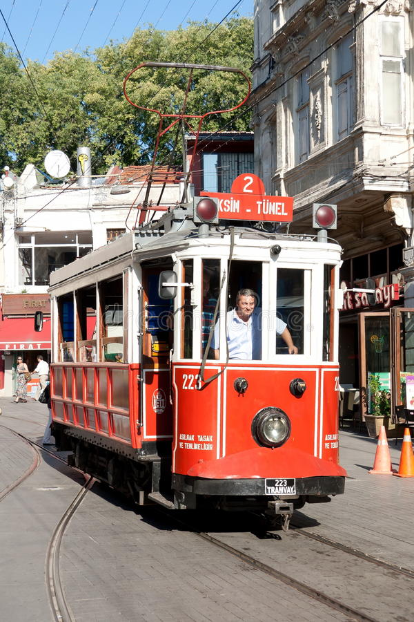 Taksim-Tunel Tram royalty free stock photography