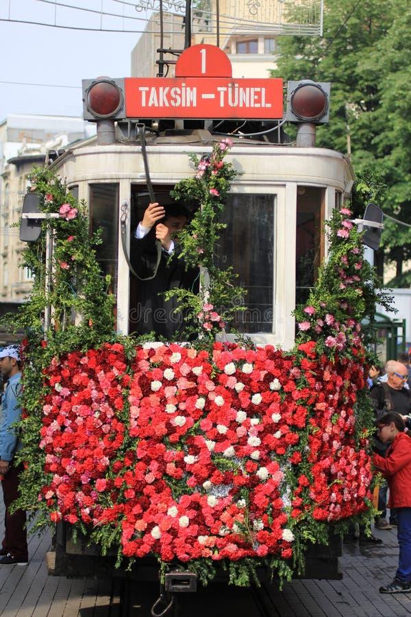 Taksim-Tunel tramwaj, Istiklal fotografia stock