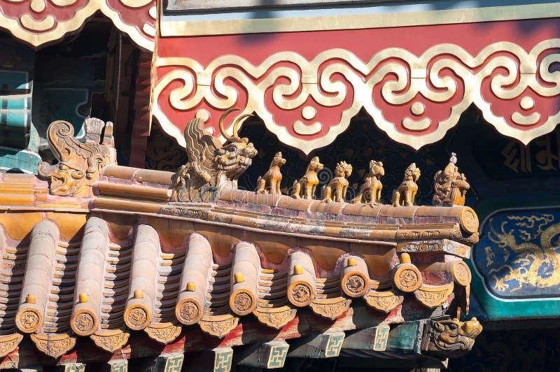 Takstatyetter på Lama Temple, Peking arkivfoton