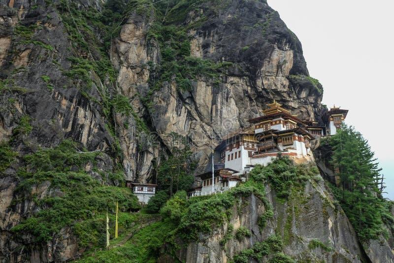 Taktsang-Kloster Tiger Nest in Bhutan lizenzfreie stockfotografie