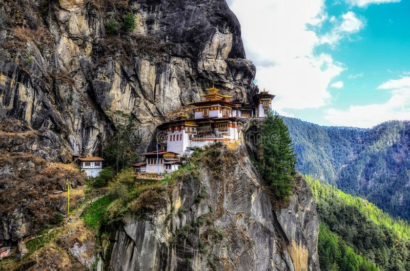 Taktsang Lhakhang & x28;The Tiger's Nest Temple& x29; is Bhutan's most iconic landmark and religious site.  stock photos