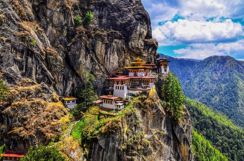 Taktsang Lhakhang & x28;The Tiger's Nest Temple& x29; is Bhutan's most iconic landmark and religious site. . Taktsang Lhakhang & x28;The Tiger stock photography