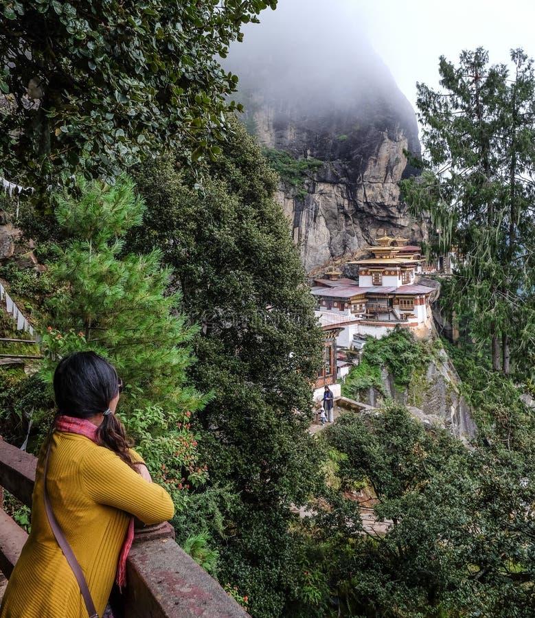 Taktsang monasteru tygrysa gniazdeczko w Bhutan fotografia stock
