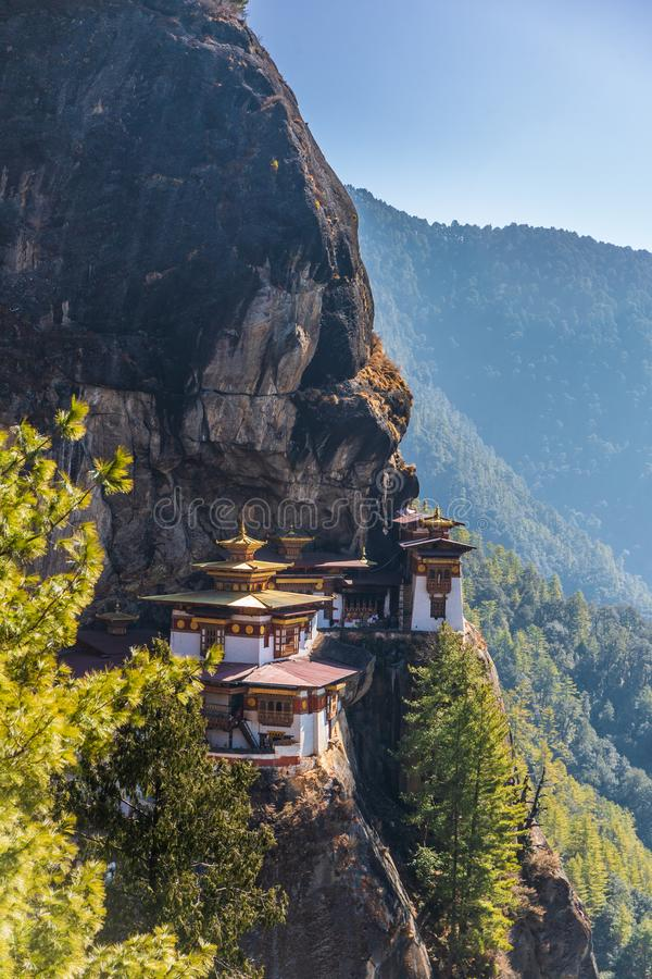 Taktshang Goemba or better known as Tiger`s nest Temple stock photo