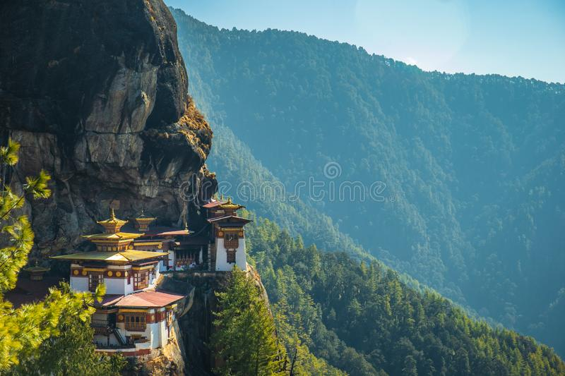 Taktshang Goemba or better known as Tiger`s nest Temple royalty free stock photo